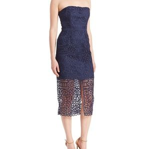 Nicholas Floral Lace Navy Dress Size 2